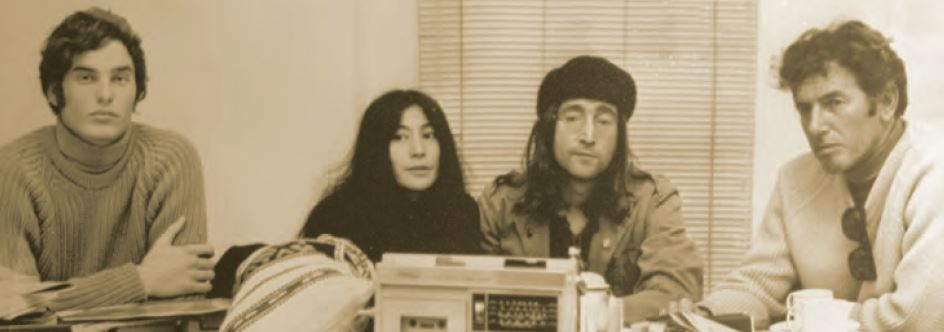 Scott Striling, Yoko Ono, John Lennon & Geoff Stirling