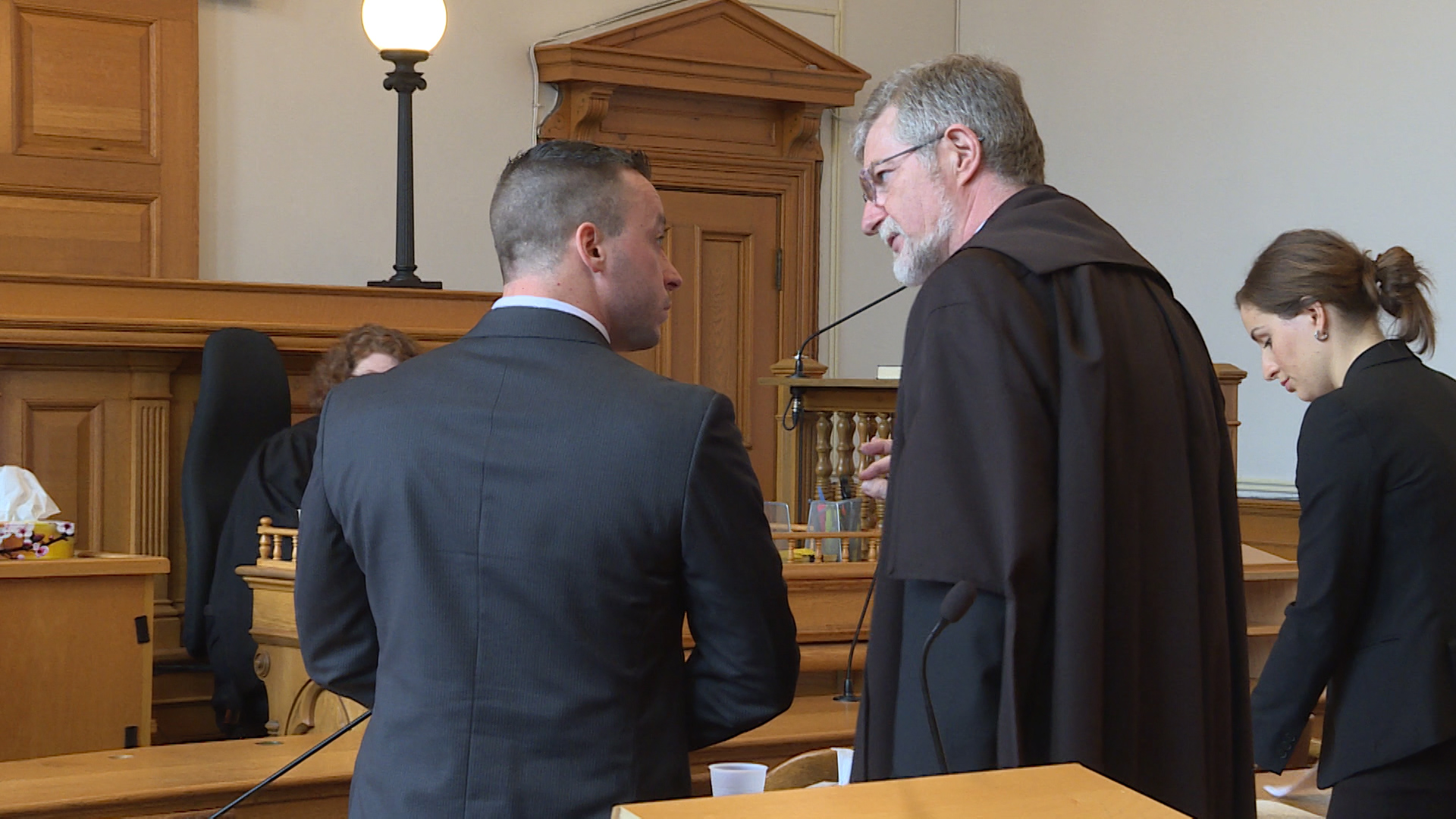 Cameron Lockhart (left) was defense lawyer Nick Avis' lone witness called (Photo:Ryan Harding/NTV)